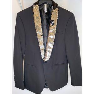 Zara Sequin Black Blazer